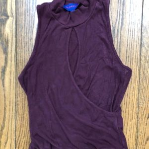 Purple Aeropostale Tank Top with Hole in Center